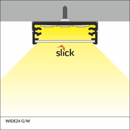 profil led wide24 g w 1000 anod srebrny 1 m liniowe o wietlenie led profile led profile. Black Bedroom Furniture Sets. Home Design Ideas
