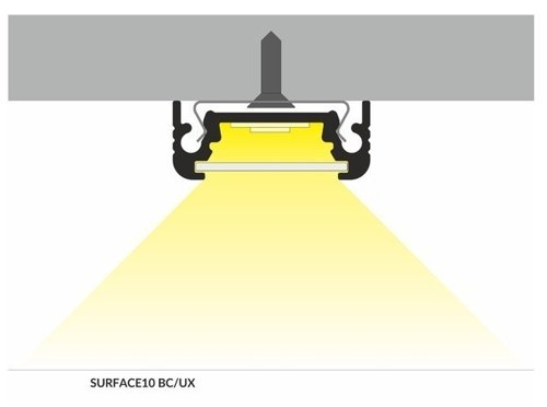 Profil LED SURFACE10 BC/UX 2000 anod.