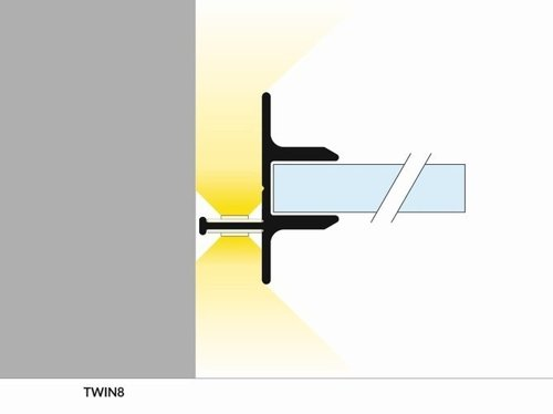 Profil LED TWIN8 2000 alu.sur.